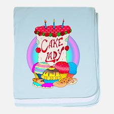 Cake Lady Baked Goods baby blanket