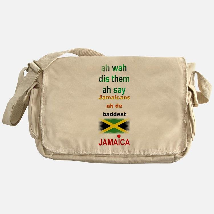 Jamaicans ah de baddest - Messenger Bag