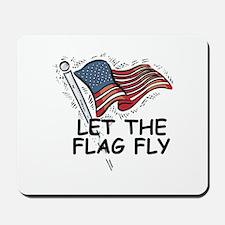 Patriotic American Flag Mousepad