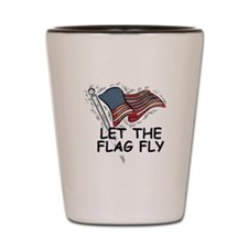 Patriotic American Flag Shot Glass