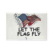Patriotic American Flag Rectangle Magnet