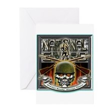 Army National Guard Skull and Greeting Cards (Pk o