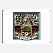 Army National Guard Skull and Banner