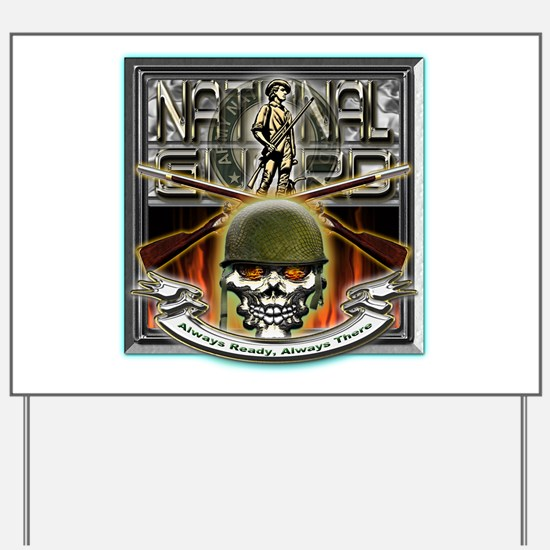Army National Guard Skull and Yard Sign