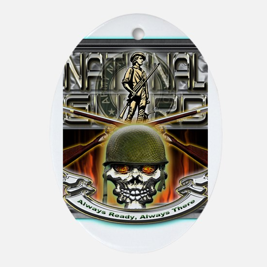 Army National Guard Skull and Ornament (Oval)