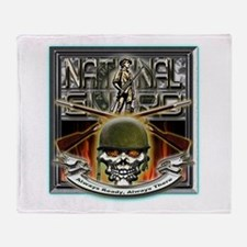 Army National Guard Skull and Throw Blanket