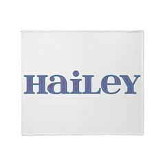 Hailey Blue Glass Throw Blanket
