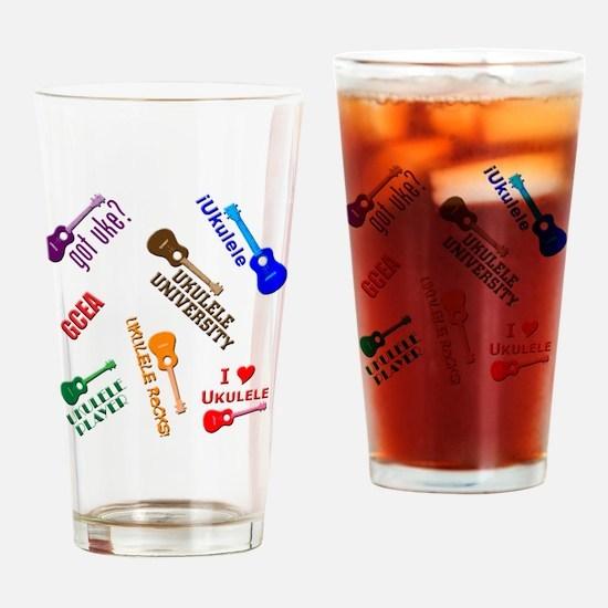 cliché ukulele Drinking Glass