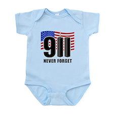 9-11 Never Forget Infant Bodysuit