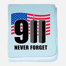 9-11 Never Forget baby blanket