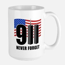 9-11 Never Forget Large Mug