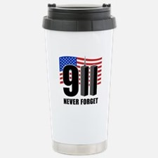 9-11 Never Forget Stainless Steel Travel Mug