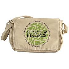 Green Zebra Messenger Bag