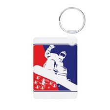 Snowboarder in Red White and Blue Keychains