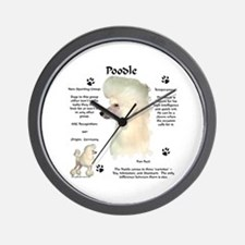 Poodle 2 Wall Clock