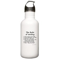 The Rules of Writing Water Bottle