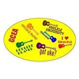 Ukulele stickers 10 Pack