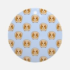 Guinea Pigs on Blue Ornament (Round)