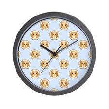 Guinea Pigs on Blue Wall Clock