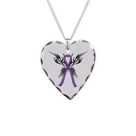 Tribal Butterfly Necklace Heart Charm
