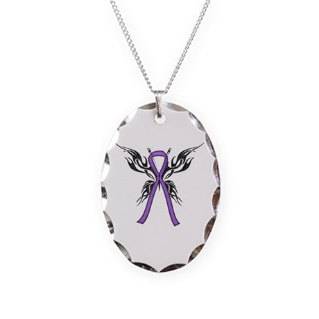 Tribal Butterfly Necklace Oval Charm