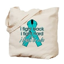 Ovarian Cancer I Fight Back Tote Bag