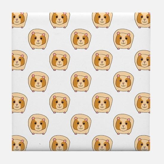 Guinea Pig Pattern Tile Coaster