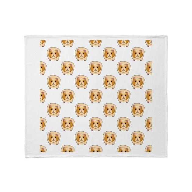Guinea Pig Pattern Throw Blanket By Metarla
