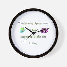 Transforming Appearances Gift Wall Clock