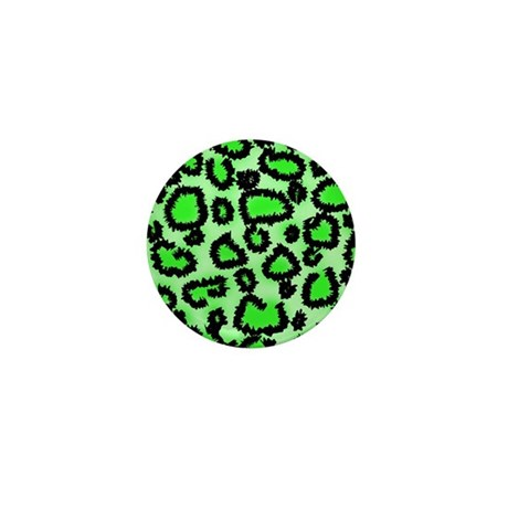 Bright green animal print Mini Button (100 pack)
