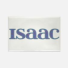 Isaac Blue Glass Rectangle Magnet