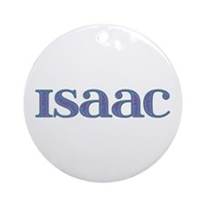 Isaac Blue Glass Round Ornament