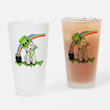 Shamrock Westie Drinking Glass