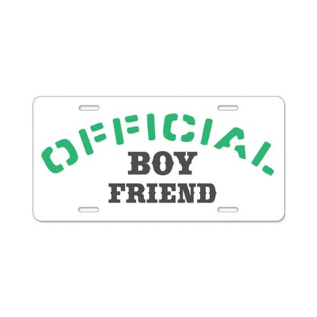 Official Boy Friend Aluminum License Plate