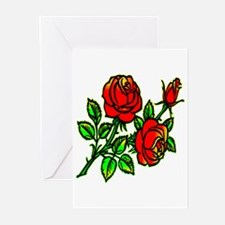Tattoo Roses Greeting Cards (Pk of 20)