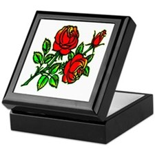 Tattoo Roses Keepsake Box