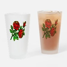 Tattoo Roses Drinking Glass