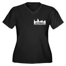 Cute Photographer Women's Plus Size V-Neck Dark T-Shirt