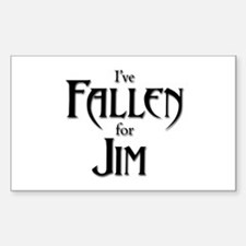 I've Fallen for Jim Rectangular Decal