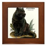 Black panther Framed Tiles