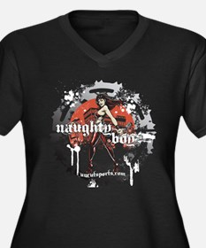 Naughty Boyz (Dark Apparel Women's Plus Size V-Nec