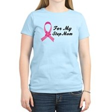 Pink Ribbon For Step Mom T-Shirt