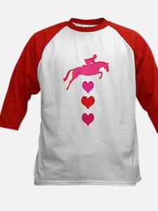 jumping horse & hearts Tee