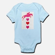 jumping horse & hearts Infant Bodysuit