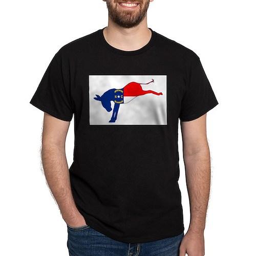 North Carolina Democrat Donkey Flag T-Shirt