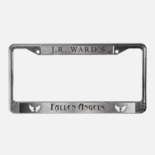 Silver JR Ward's Fallen Angels License Plate Frame