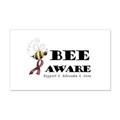 Bee Aware - Burgundy 22x14 Wall Peel