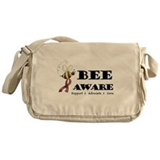 Bee Aware - Burgundy Messenger Bag