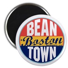 Boston Vintage Label Magnet