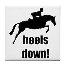 heels down jumper Tile Coaster